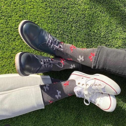 Calcetines sin costuras en la punta