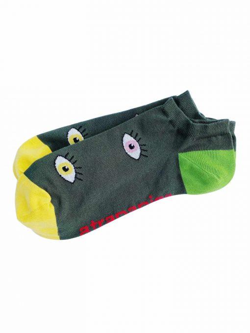 calcetines tobilleros modelo ojos atrapapies