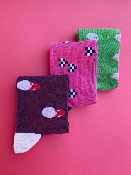 Sostenibilidad pack 3 calcetines caña alta