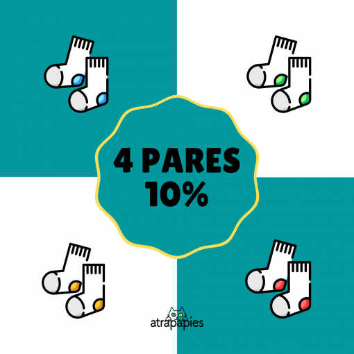 4 PARES calcetines ecologicos 10%