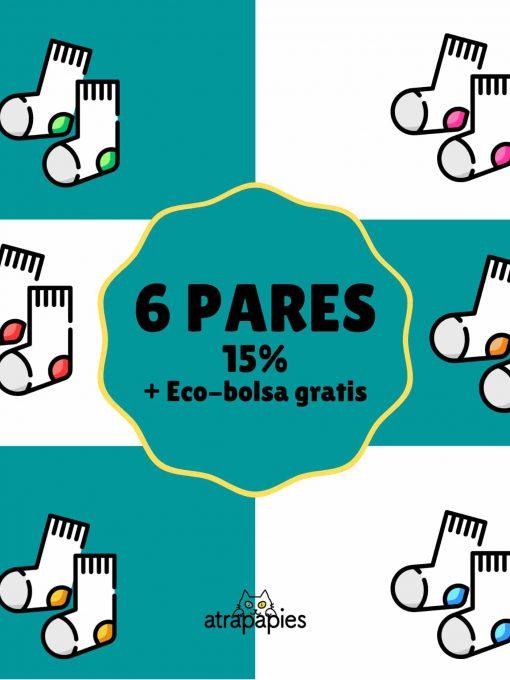 6 PARES calcetines ecologicos 15%