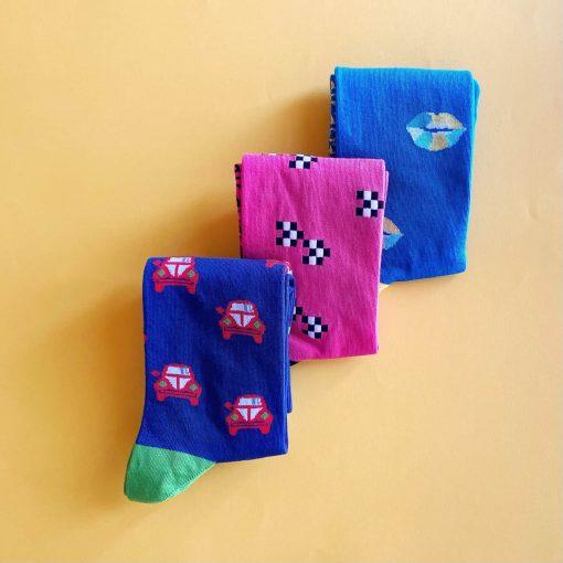 Mediterraneo - pack 3 calcetines caña alta